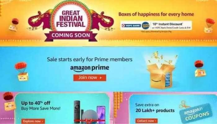 Amazon Great Indian Festival sale அதிரடி தள்ளுபடி, அசத்தும் சலுகைகள்: விவரம் உள்ளே