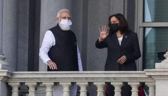 இந்தியாவின் தடுப்பூசி போடும் வேகம் வியப்பளிக்கிறது: கமலா ஹாரிஸ்